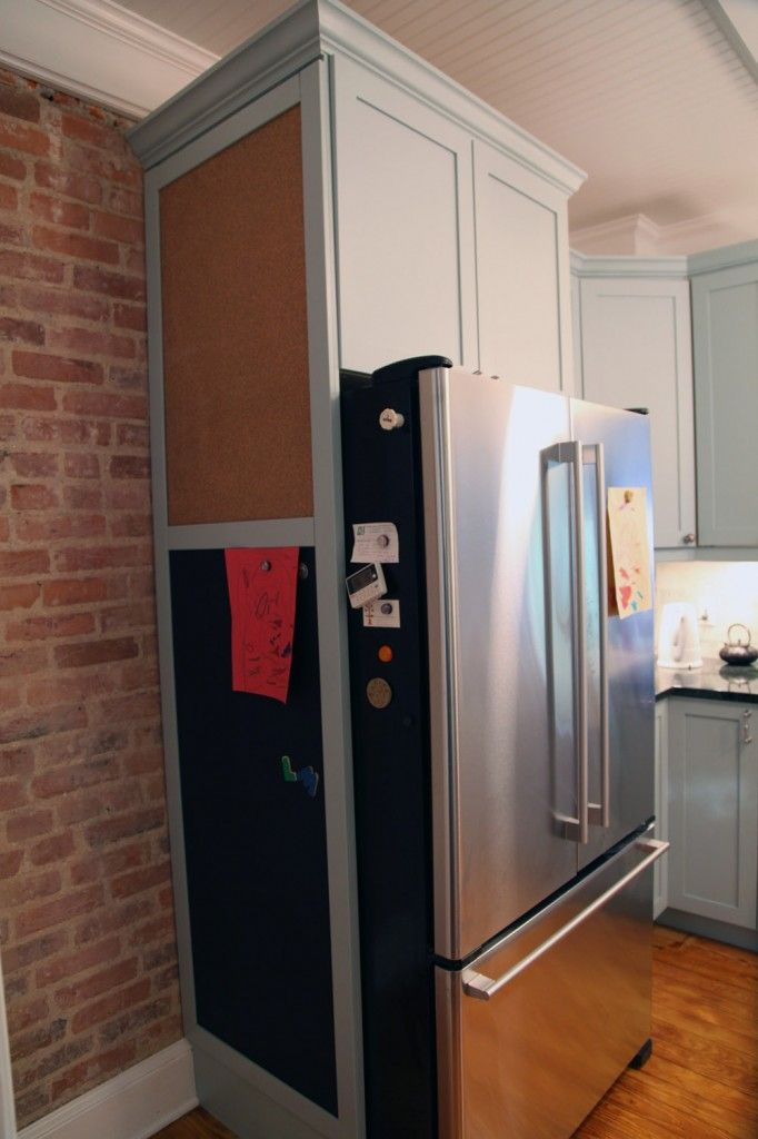 Cork Board For Side Of Fridge Kitchen Pinterest