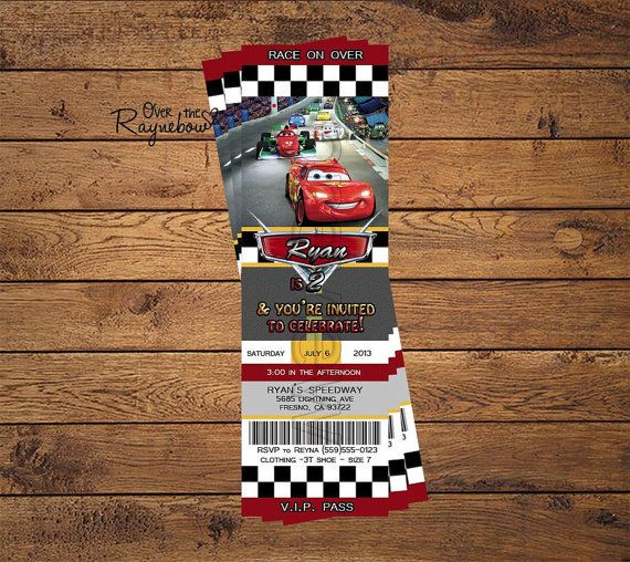 Hey, I found this really awesome Etsy listing at https://www.etsy.com/listing/161827165/disney-cars-invitation