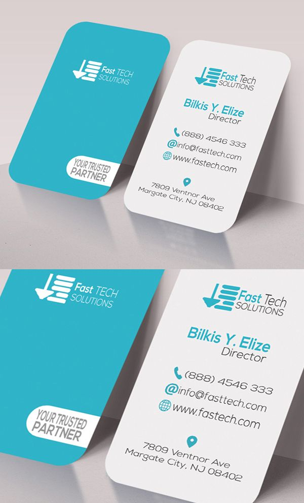 Fast Tech Round Business Card Round Business Cards Business Card Text Modern Business Cards
