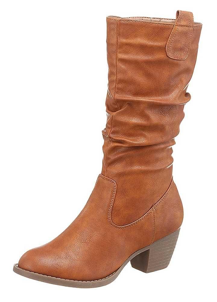 City Walk Gathered Leg Boots