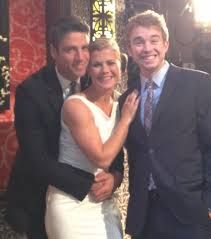 James Scott, Alison Sweeney (Ejami), and Chandler Massey (Will) on Days