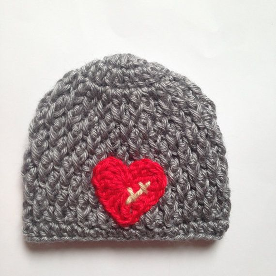 I created this CHD hat in honor of my own heart baby who was born with HLHS and, after 3 open heart surgeries, is now a healthy 4 year old.  Crochet
