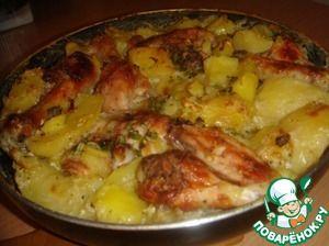Курица с картофелем в молоке
