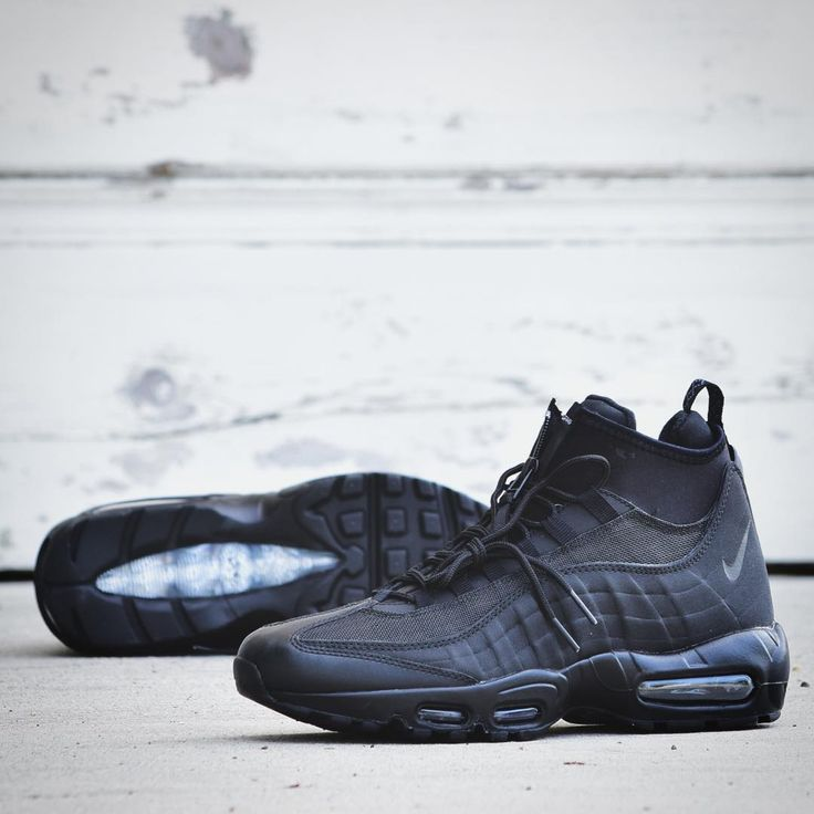 info for bd01e 97d09 ... Nike Air Max 95 Sneakerboot Midnight Black Sneakers Nike Air Max 95  Pinterest Air max 95 ...
