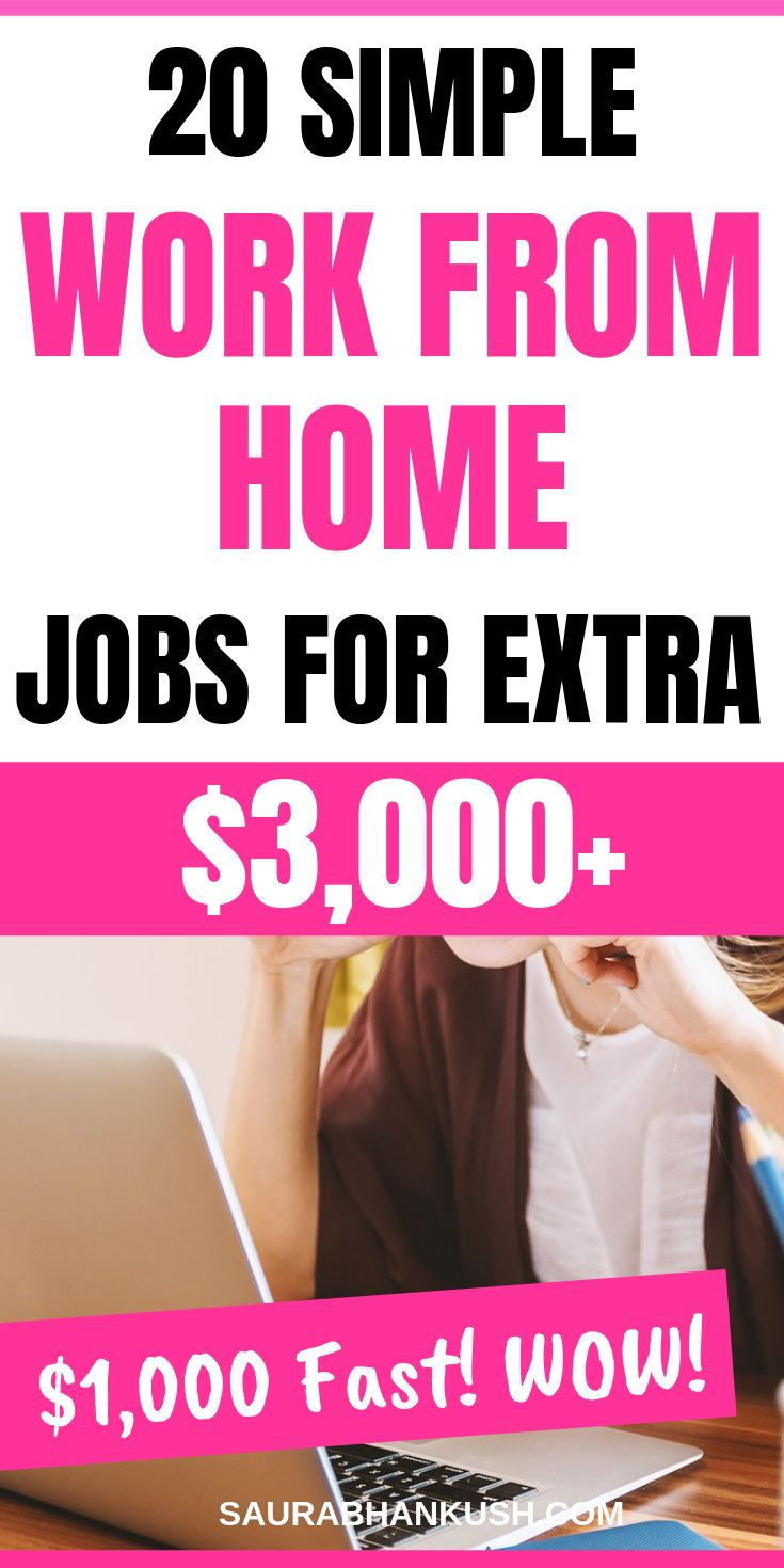 20 Legitimate Work From Home Jobs to Make Extra $3,000+ Month
