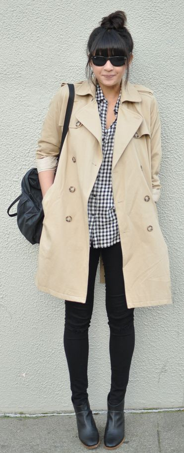 Adorable fall outfit - trench coat