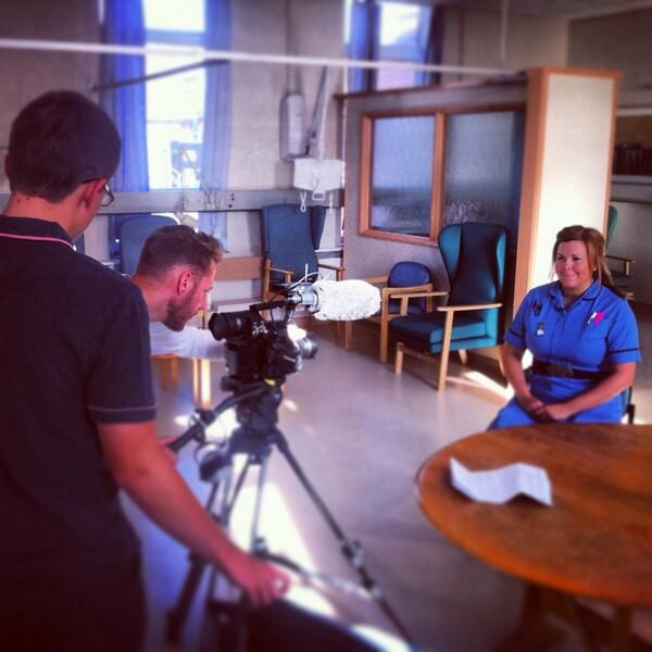 Interviewing Staff Nurse, Holly