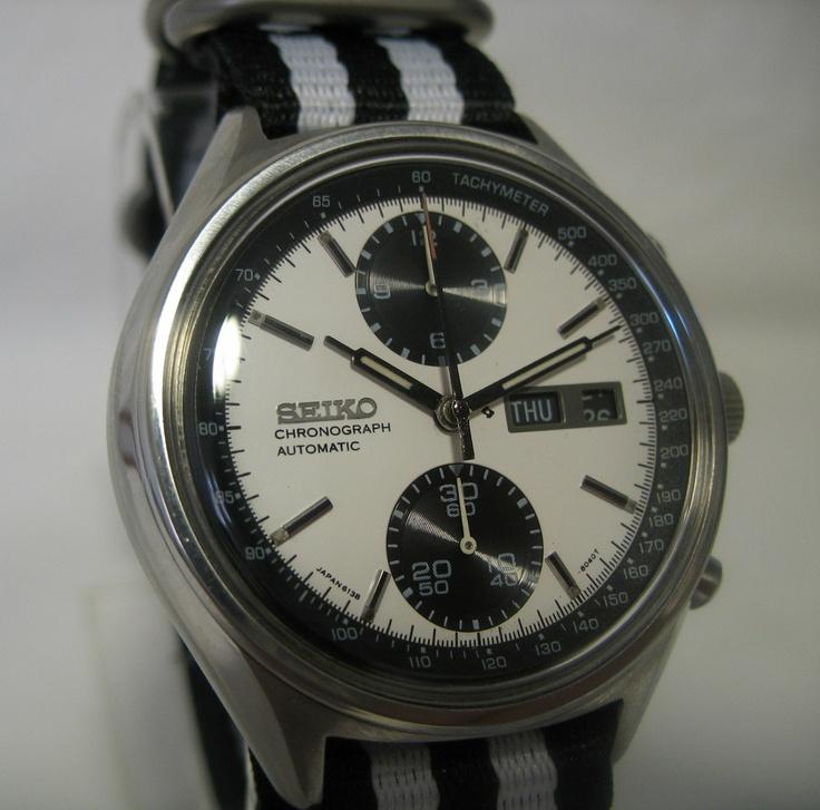 Details about VINTAGE SEIKO watch 6138-8021 PANDA ...