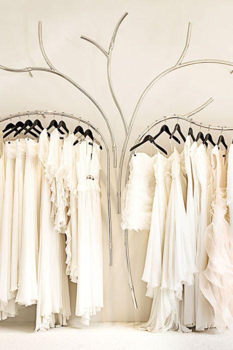 Visual Merchandising   Display: Retail Design   Shop Design   Fashion Store Interior Fashion Shops   Tree rails