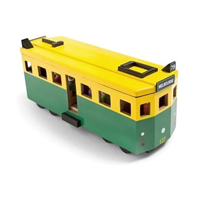 Iconic Wooden Toy Tram