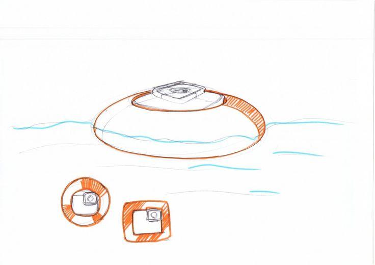 Ein Schwimmring auf den man die GoPro spannen kann. #manugoo #goro