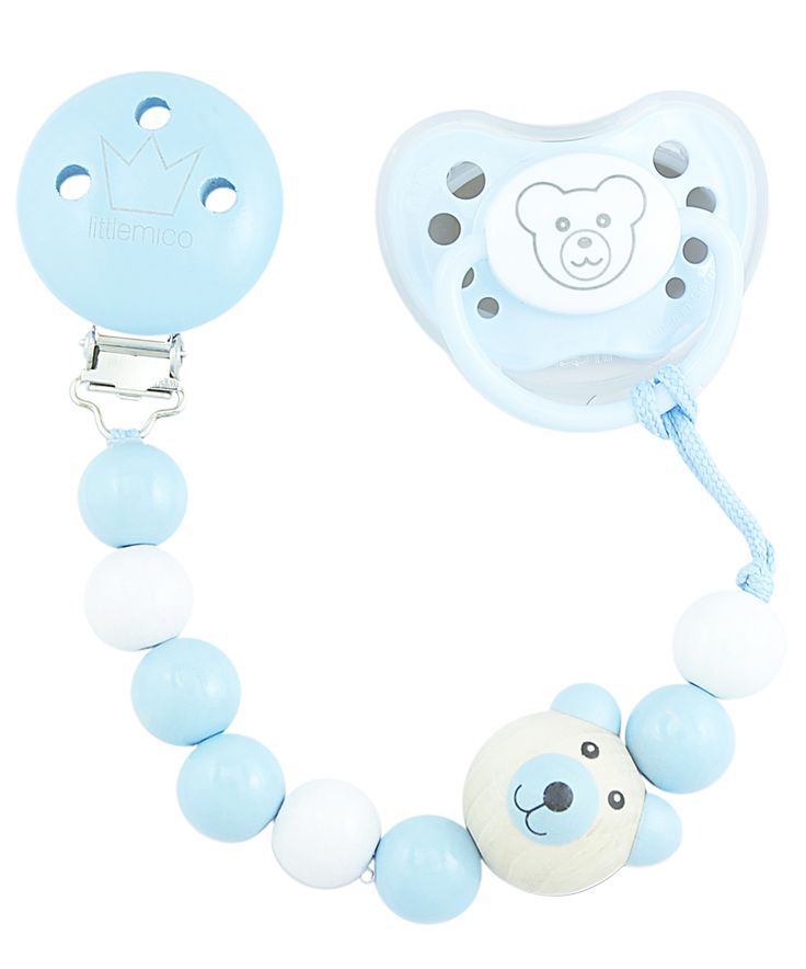 Littlemico™ Teddy Pacifier holders Gift Set, Boy.
