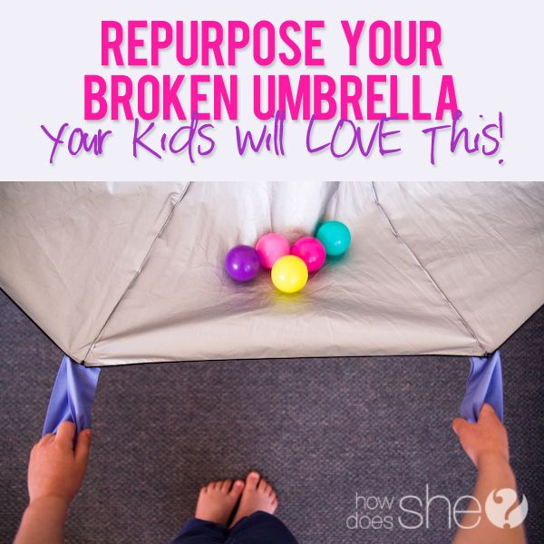 What to do with a broken umbrella?? Turn it into a parachute! Your kids will love it! Here's how!