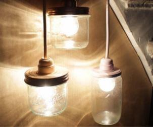 Les 25 meilleures id es concernant couvercles de bocaux for Lampe pot de confiture