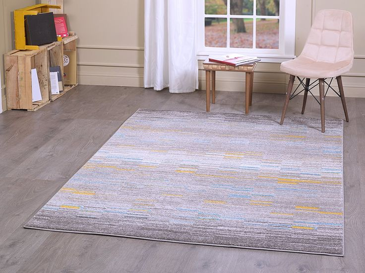 A2z Rug Luxury Modern Sevilla 5380 Collection Area Rugs Grey Dark Gold