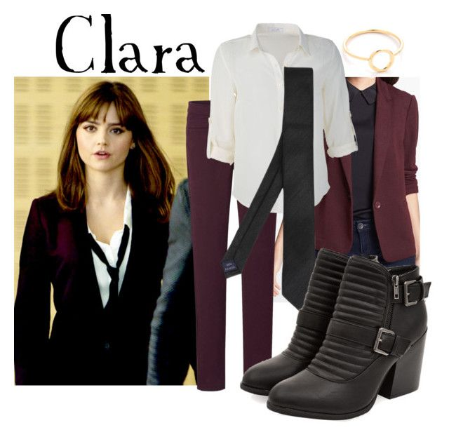 """""""Clara Oswald"""" by companionclothes ❤ liked on Polyvore featuring Coleman, Olivia Moon, Uniqlo and Shashi"""