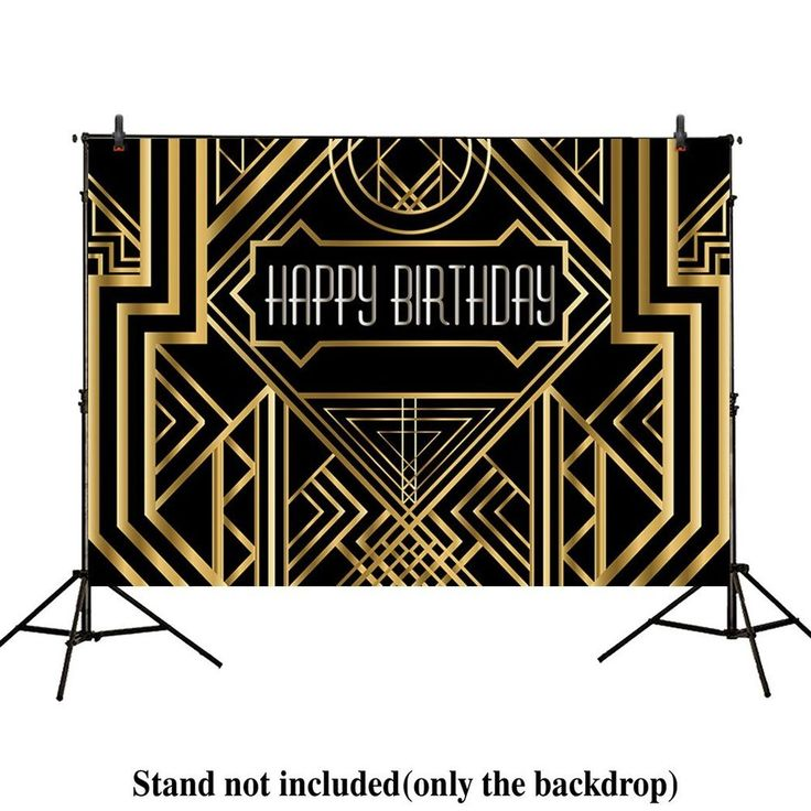 Party Backdrop Great Gatsby 20s Adults Children Birthday Photo Booth Decoration  | eBay