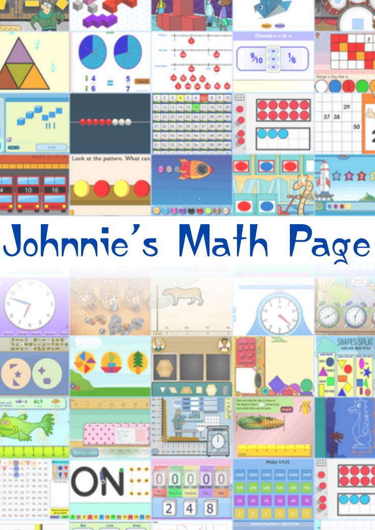 Johnnie's Math Page - over 1,000 math actvities - number, geometry, fractions, multiplication, measurement, statistics, probability, fun games and more for kids and their teachers.