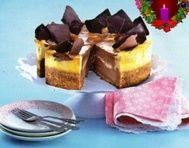 Vánoční dvoubarevný cheesecake