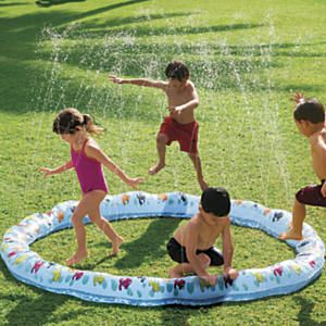 Kids Li'l Squirt Sprinkler Ring: Designed by One Step Ahead! We designed a sturdier sprinkler ring! Kids love dashing in and out of sprinkler rings, but the toy sprinklers we tested were prone to springing leaks. So we made ours rougher and tougher than other kids' sprinklers, with triple-thick, double-welded seams that resist splitting and tearing.