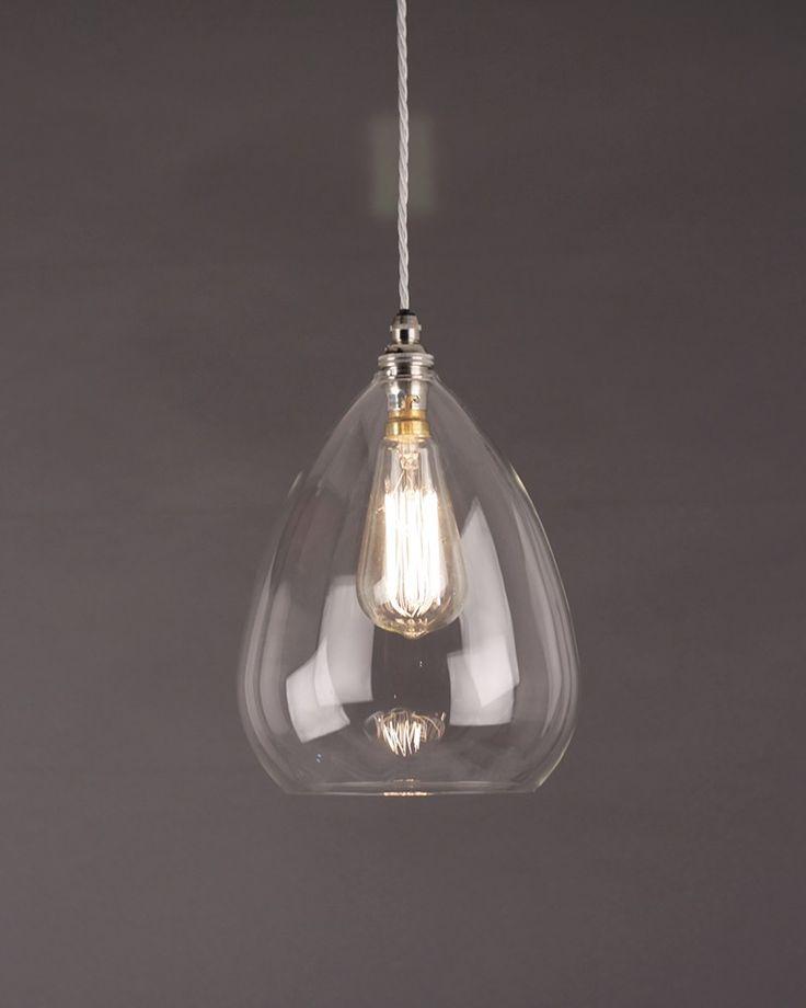 Designer Lighting, Wellington Clear Glass Pendant Light