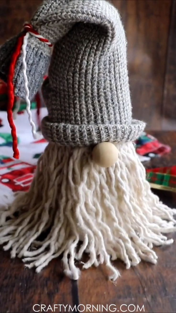 How to Make Mop Gnomes- cutest christmas craft to …
