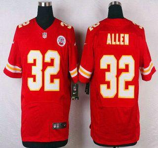 Kansas City Chiefs Jersey 32 Marcus Allen Red Team Color NFL Nike Elite Jerseys