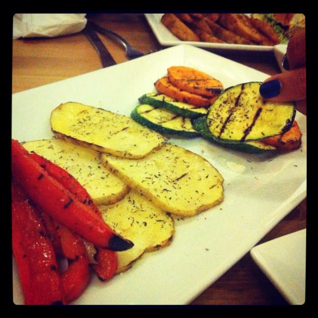 Vegetales al grill de La Rosricería