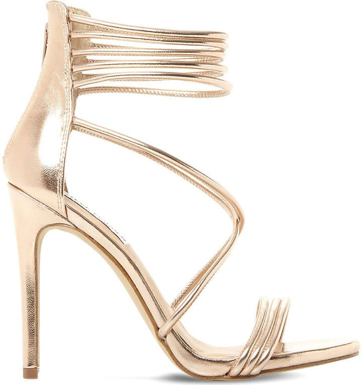 410208ce2379 Steve Madden Answer sm metallic leather sandals - Rose Gold
