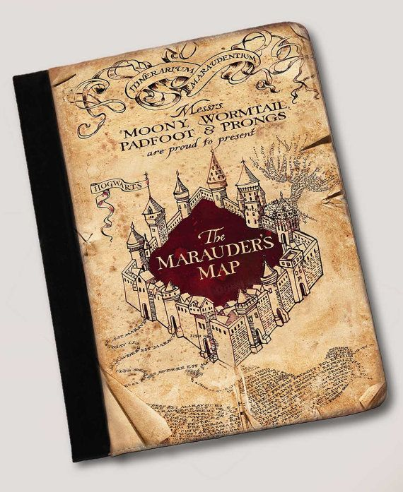 Harry Potter Inspired The Marauders Map ipad 2, 3 or 4 notebook case Leather on Etsy, $29.95