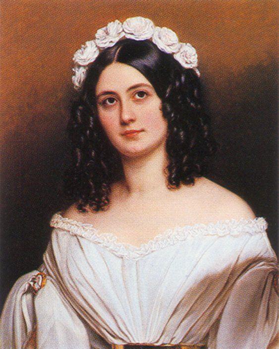 1840 Rosalie Julie von Bonar by Joseph Karl Stieler (Schönheitengallerie Schloß Nymphenburg, München Germany)