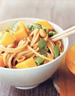 Mango Noodle Salad with Peanut Dressing