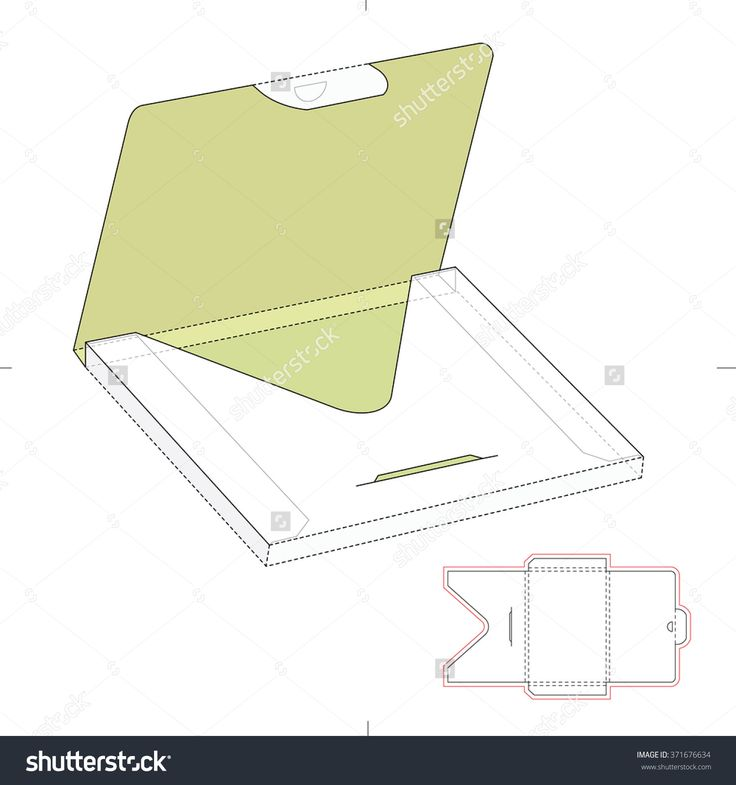 Thick Envelope Package With Die Cut Template Stock Vector Illustration 371676634 : Shutterstock