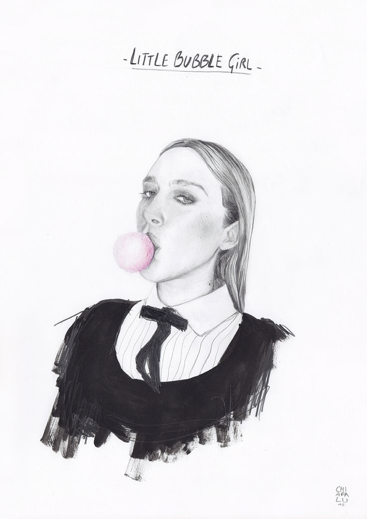 Portrait > Chloe Sevigny Graphite + biro pen  Illustration