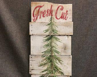 Ampoules de sapin de Noël rouge pin arbre par TheWhiteBirchStudio
