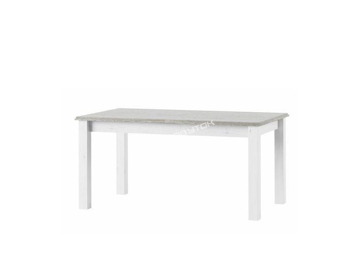Vkusný rozkladací jedálenský stôl LIONA LM88 vyrobený v krásnom bielom farebnom prevedení zo sektorovej kolekcie nábytku LIONA.