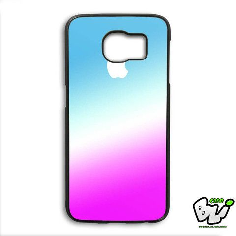 White Apple Blue Gradient Samsung Galaxy S6 Edge Plus Case