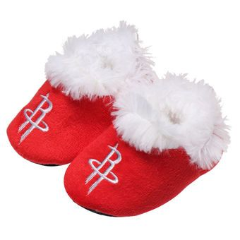Infant Houston Rockets Baby Bootie Slippers