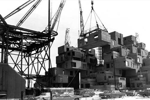 Habitat 67 under construction