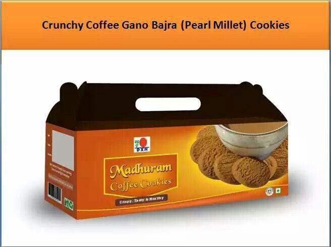 DXN Madhuram Cookies Crunchy Coffee Gano Bajra ( Pearl Millet ) Cookies.