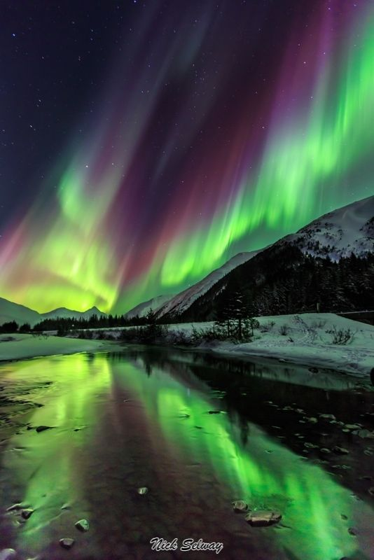 Auroras, Anchorage, Alaska! Can't believe my cousin lived here the last two years of his life. Absolutely beautiful. Can't wait to go see it someday.