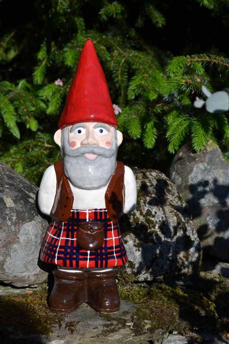 The original MacGnome - designed, hand cast & painted by Julie Hunt, Dunkeld, Scotland