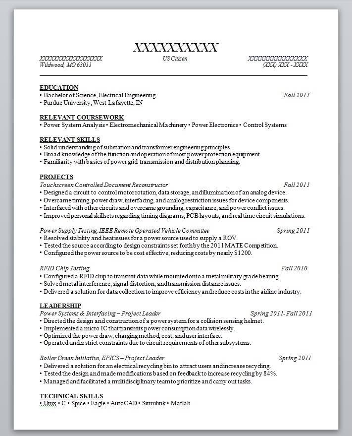 resume out of high school