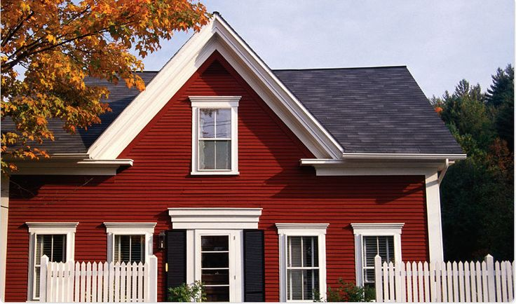 Let your home stand out in a crowd with dutch boy regal red a10 1 off white c15 4 and black f16 - Dutch boy exterior paint colors property ...