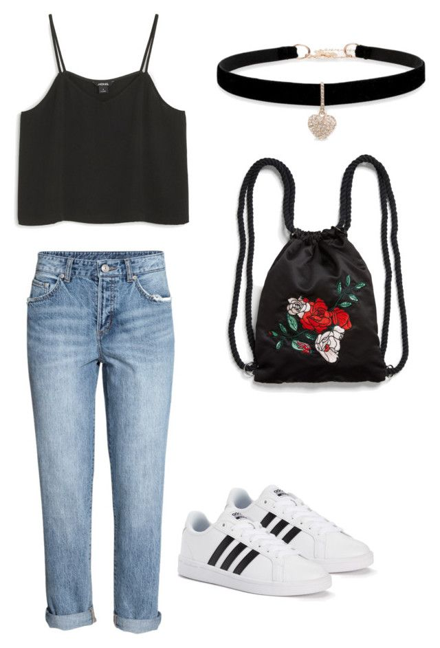 """""""Spring /summer Carnival outfit"""" by madisenharris on Polyvore featuring Monki, adidas and Betsey Johnson"""