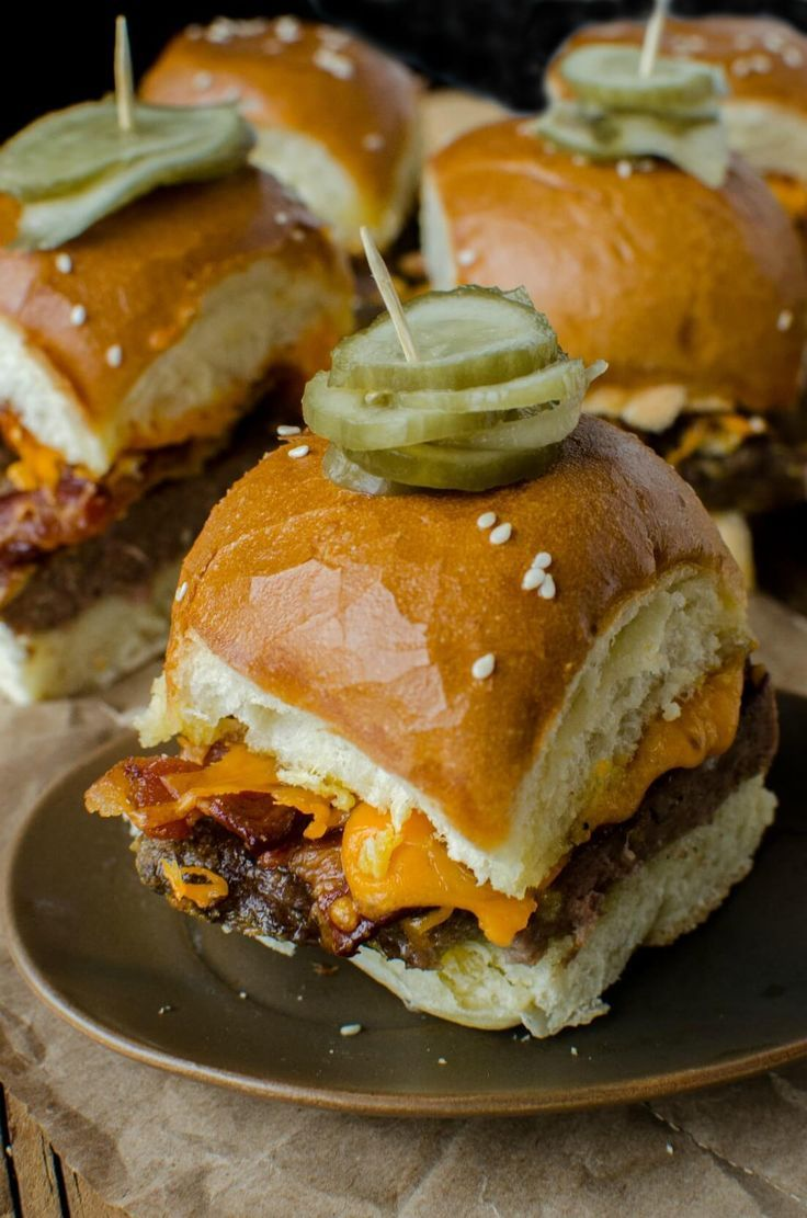 Bacon Cheeseburger Sliders are the perfect dish to share with friends at your next party. Easy and delicious.