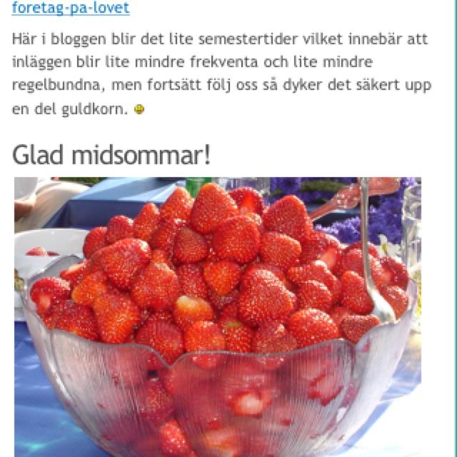 Glad midsommar! Bloggen går in i sommartider och andra börjar jobba nu - sommarlovsentreprenörerna som jag träffade igår! http://gottarbetsliv.se/glad-midsommar-2012/