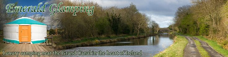 Glamping in Ireland in a Mongolian Yurt. Emerald Glamping offer luxury camping near the grand canal in the heart of Ireland, Daingean, Count...