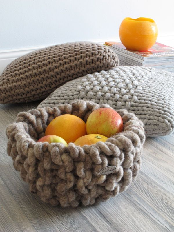 Knitted housewares (Not crochet but I would love to learn how to do this!)