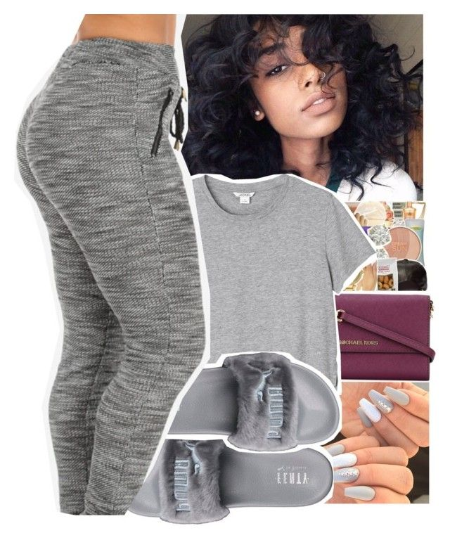 """"""""""" by divap01 ❤ liked on Polyvore featuring MICHAEL Michael Kors, Monki and Puma"""